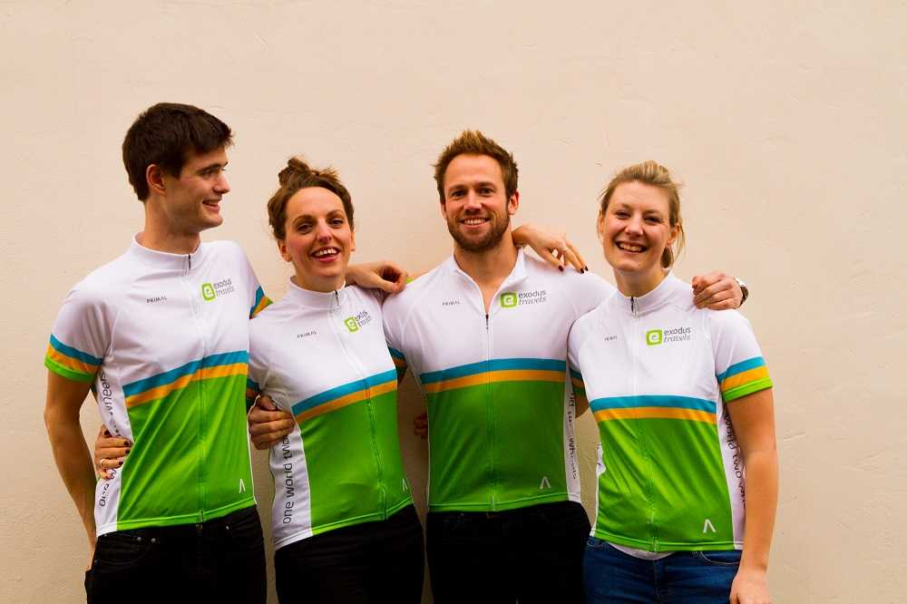 Our LEJOG team L-R: Dave, Megan, Olly, Gina