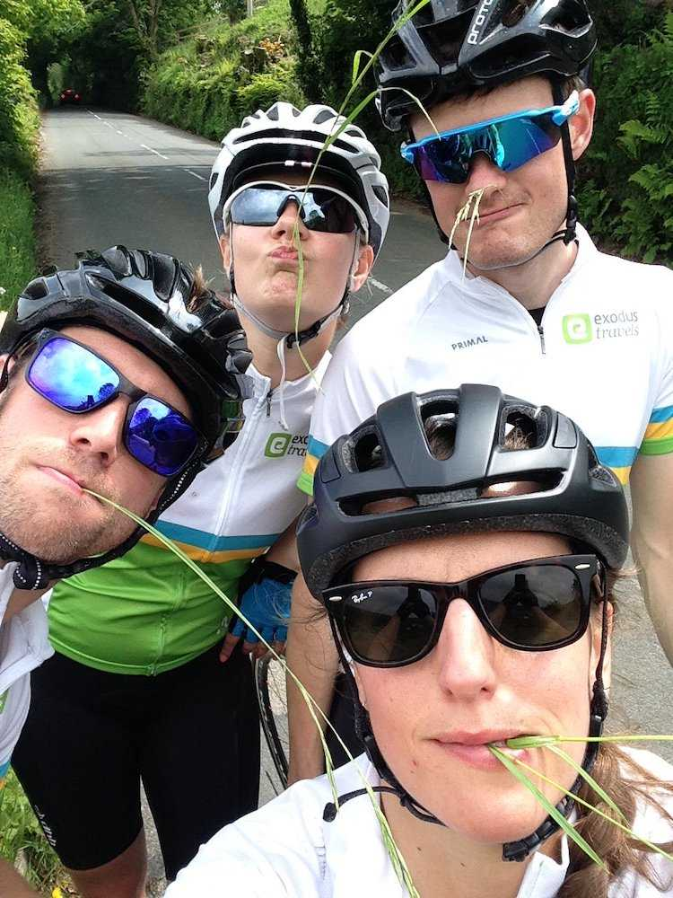 The team chewing the cud on day 1 of LEJOG!
