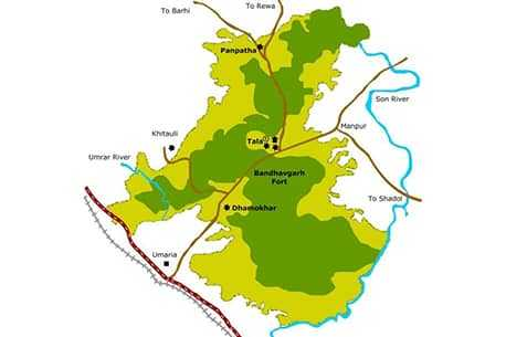 Map of Bandhavgarh