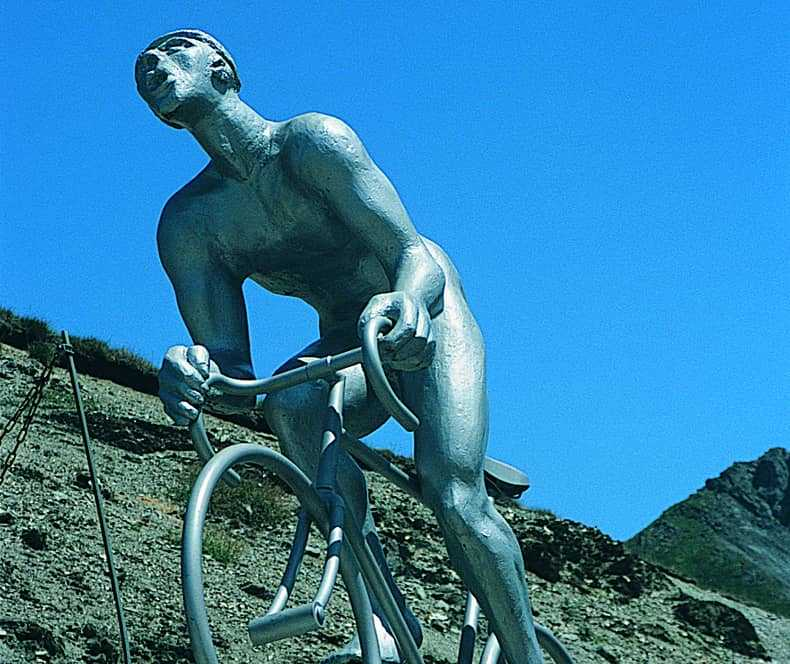 Cycling statue in the Pyrenees