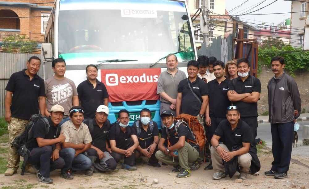 Pete, Valerie and our local leaders in Nepal, ready to help