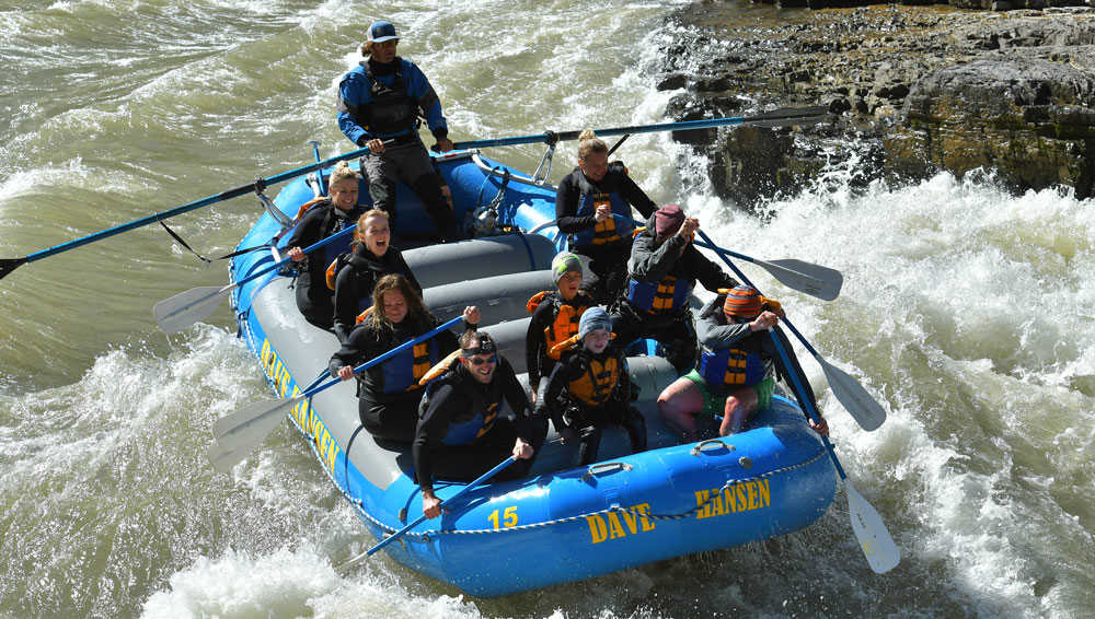 Raft down the Snake River
