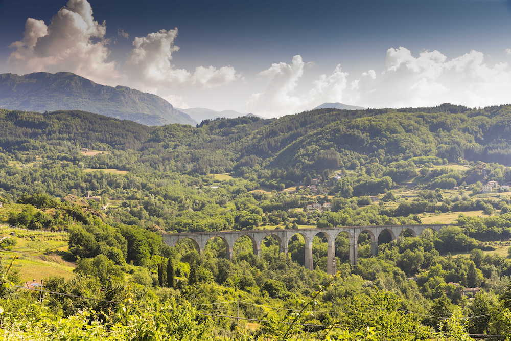 Mountain scenery in Tuscany