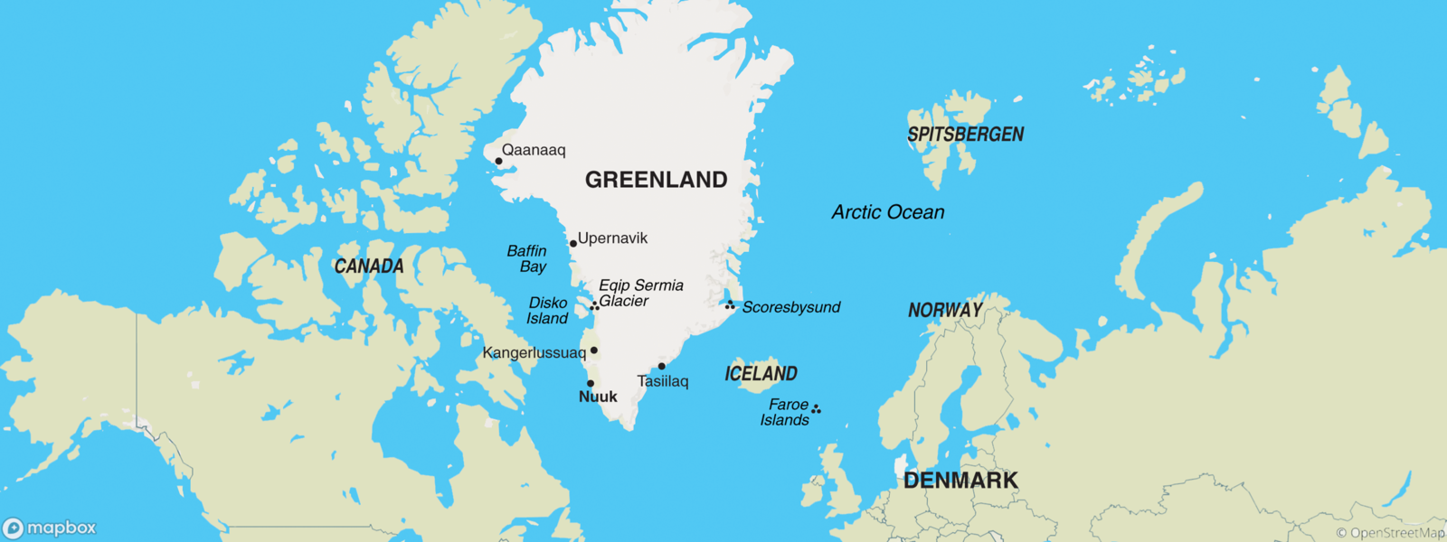 Denmark (with Greenland) map