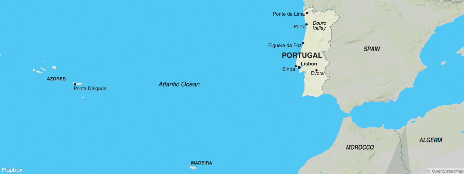 Portugal, with Azores and Madeira map
