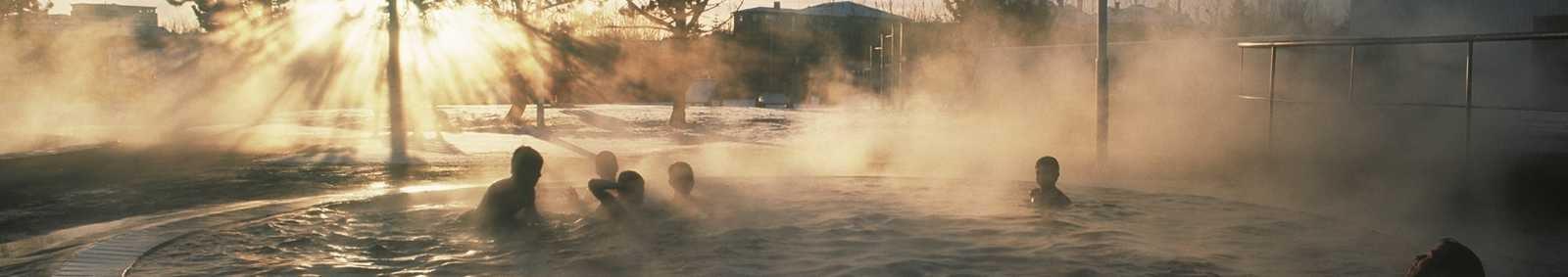 Geothermal baths in Iceland