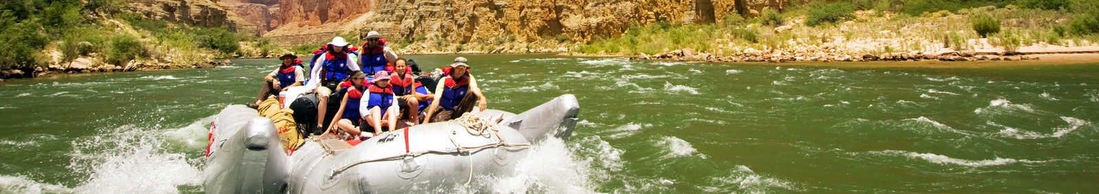 Rafting down the Colorado River, Grand Canyon, USA