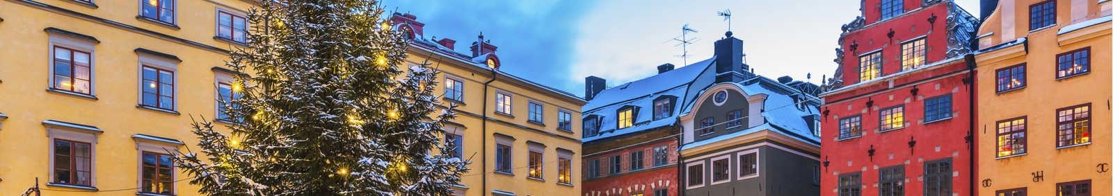 Christmas market in Stockholm, Sweden