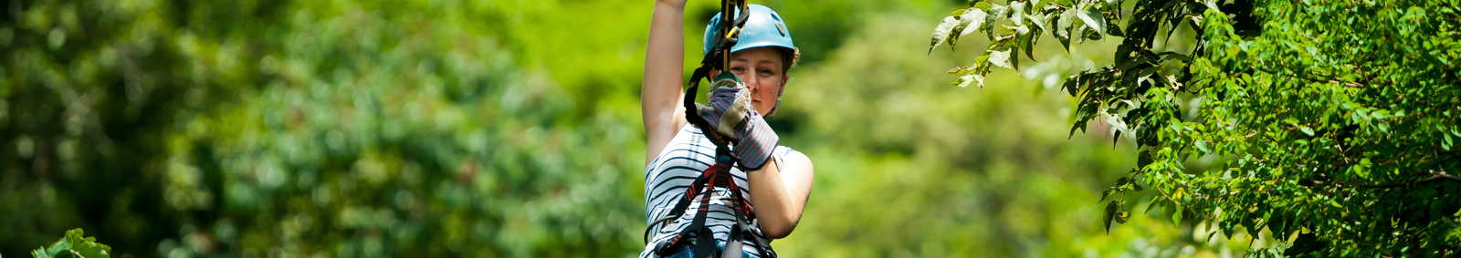 Zip-lining in Costa Rica