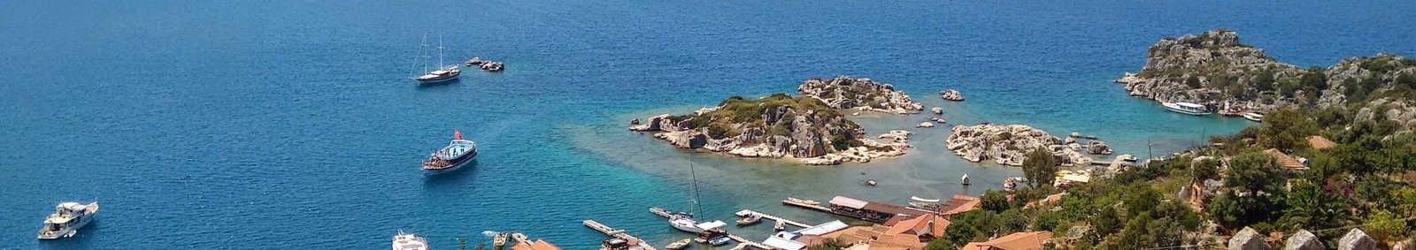 View from Simena castle, Turkey