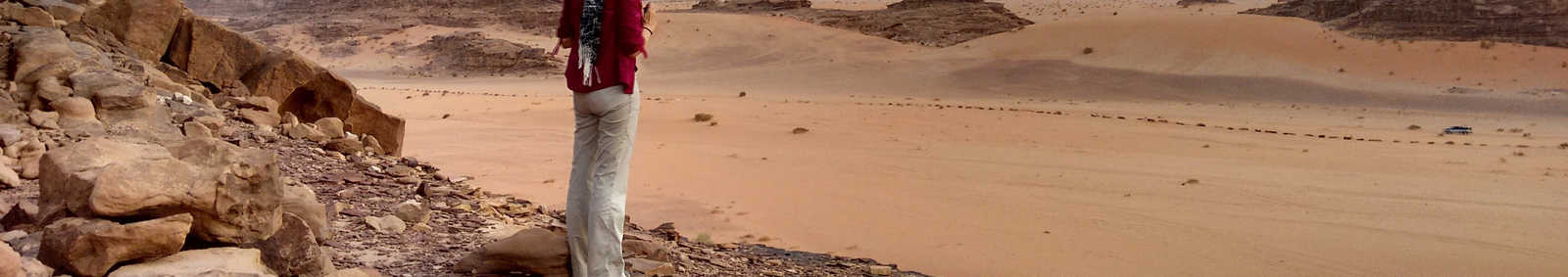 Looking out over Wadi Rum desert