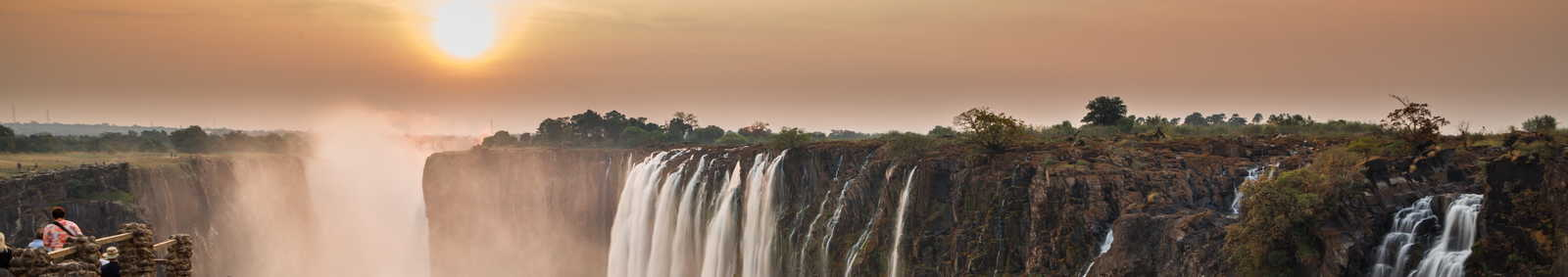 Sunset at Victoria Falls, Zambia