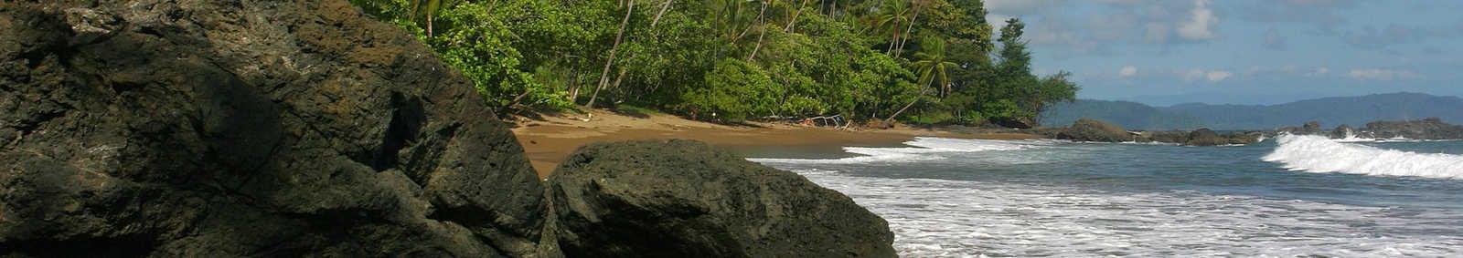 Pacific coast in Corcovado park, Costa Rica