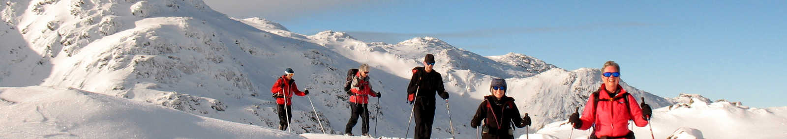 skiing down from Gaustatoppen