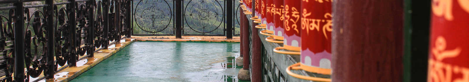 Prayer wheels in Terelj, Mongolia