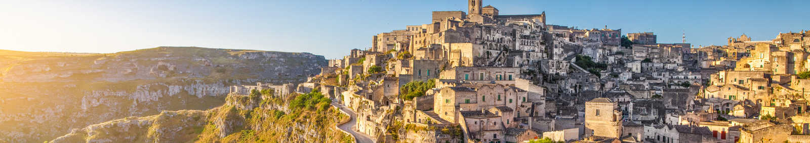 Panoramic view of the ancient town of Matera
