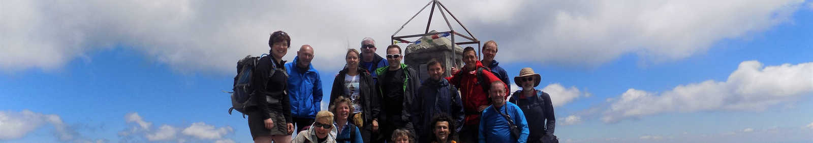 At the summit of Mount Musala 2925m, Bulgaria's highest peak