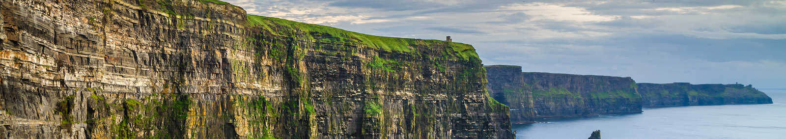 world famous landscape from west coast of ireland. wild atlantic way route tourism