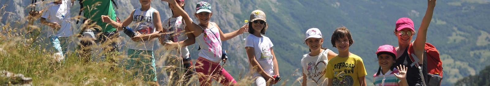 Children above Sutjeska Canyon