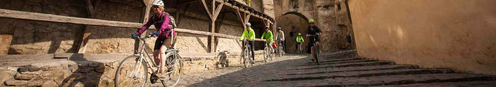 Cycling through Sighisoara