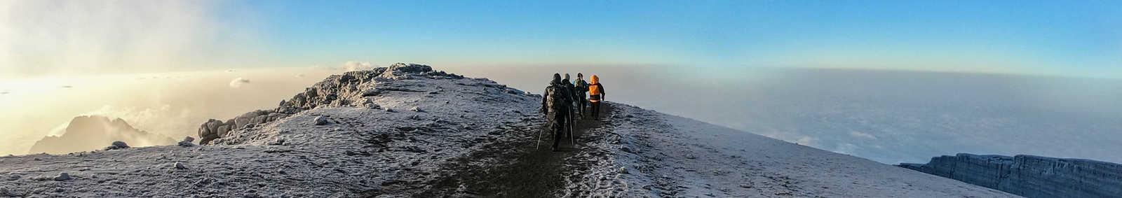 trekking group of people