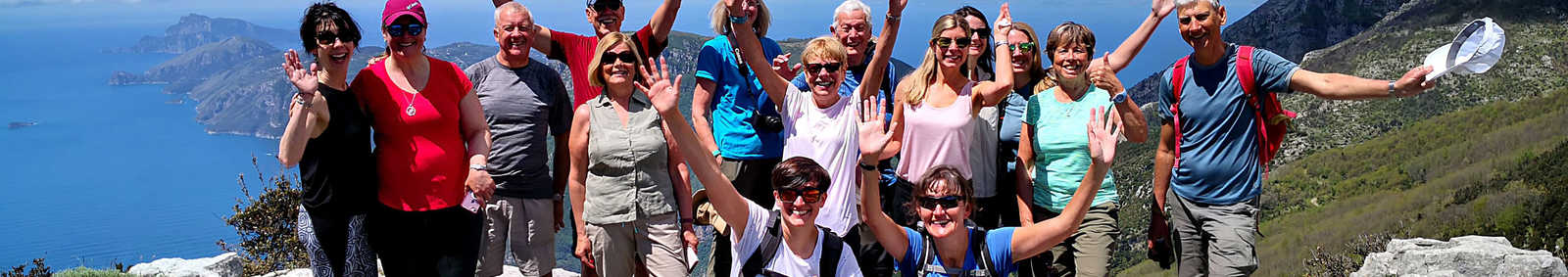 Vania De Paoli with her tour group in Italy