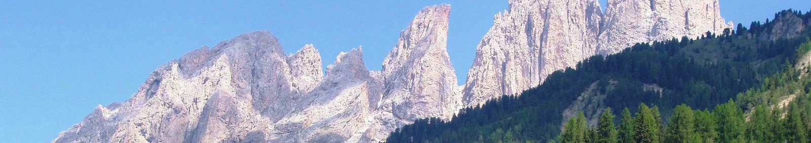 View of Soraga, Western Dolomites