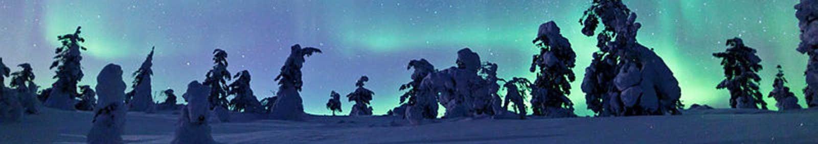 The Aurora on the horizon, Torasseippi. Finland