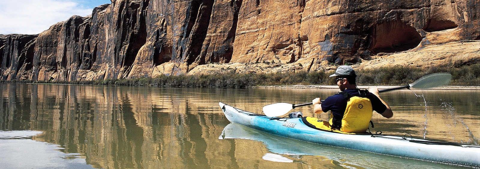 Kayaking on Colorado River, Utah