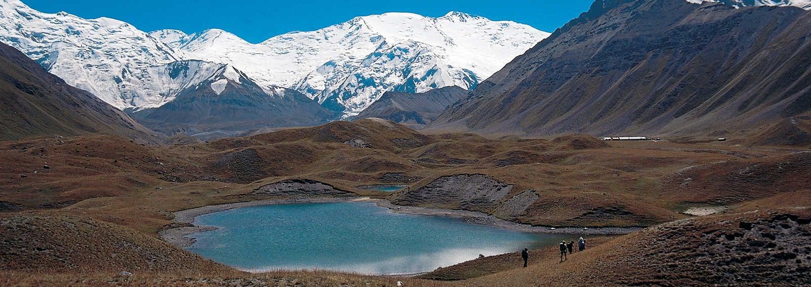 Peak Lenin from Achik Tash Valley, Pamirs,