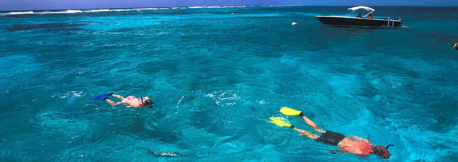 Snorkelling at Hol Chan Marine Reserve, Belize