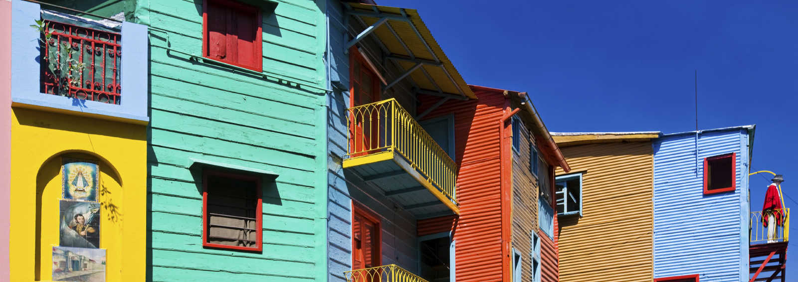 Colourful Houses in La Boca, Buenos Aires, Argentina