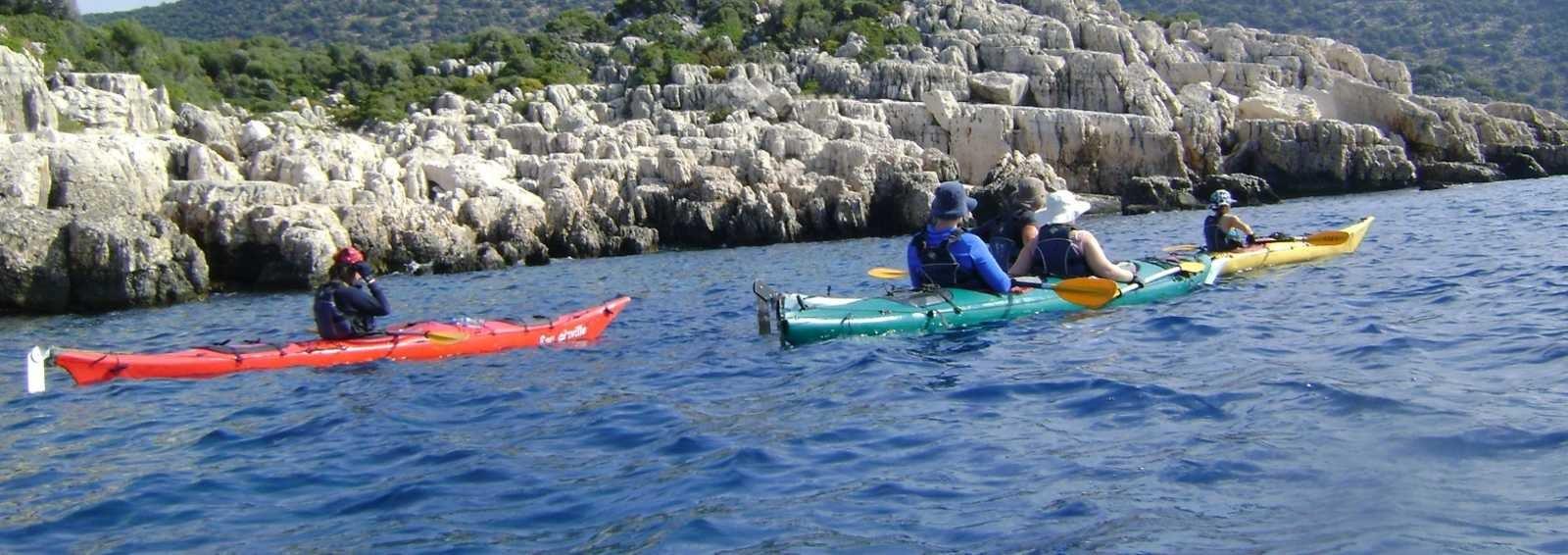 Group heading along the Turqoise Coast, Turkey.