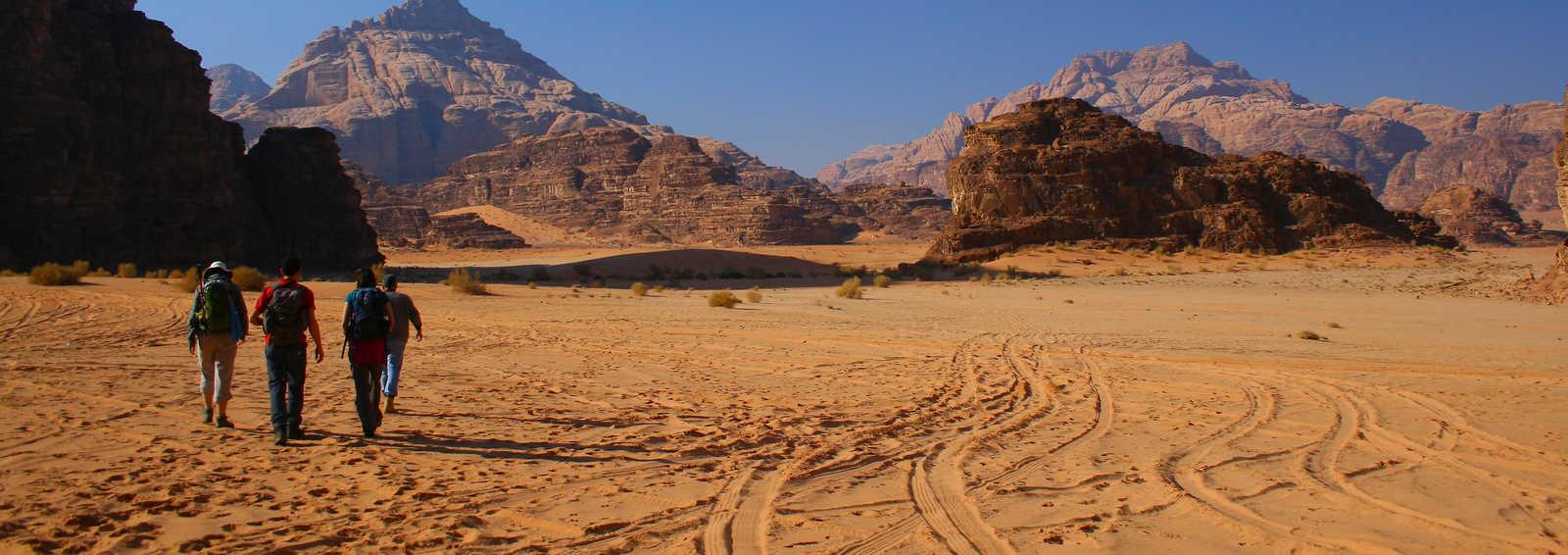 Walking in Wadi Rum