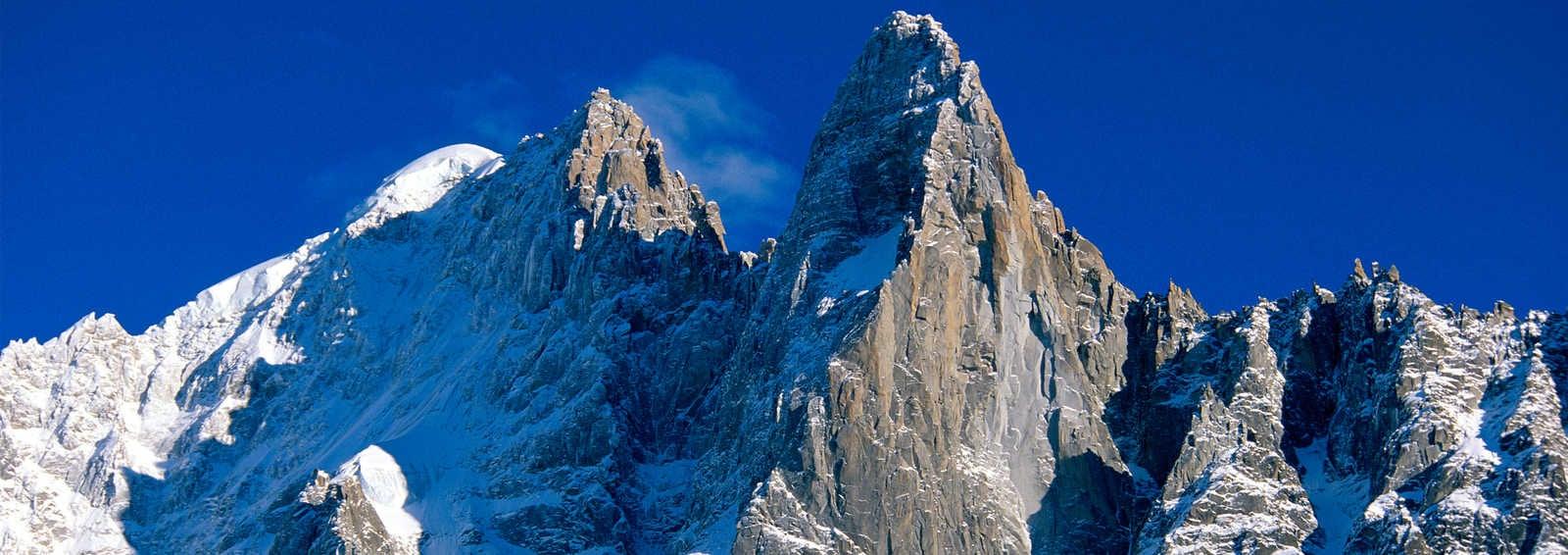 Aguille Verte and Le Drus above Chamonix
