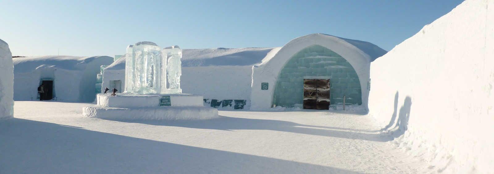 Icehotel entrance, Jukkasjarvi, Swedish Lapland