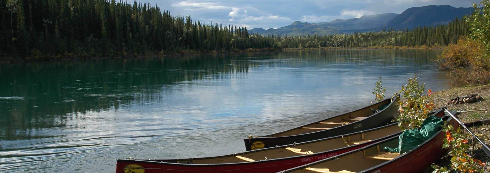 Kayaking down the Yukon River, Canada