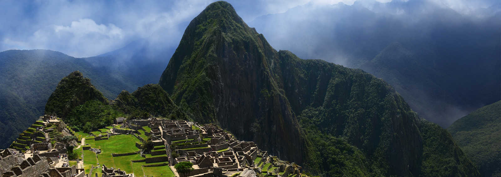 Dramatic sky over Machu Picchu