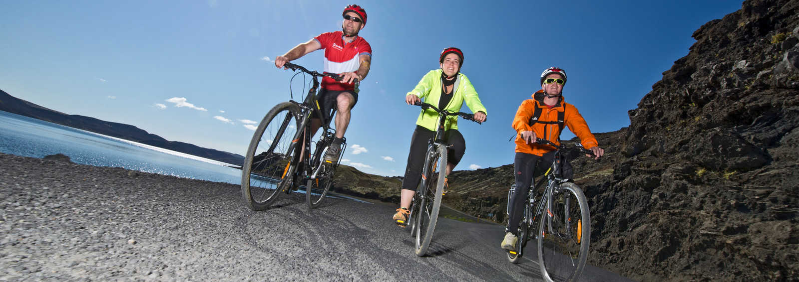 Cyclists in Iceland
