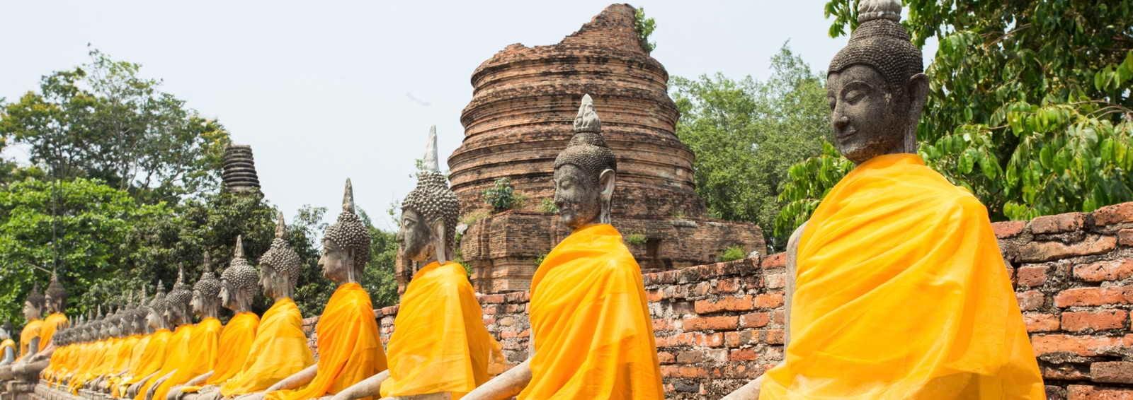 Row of Sacred Buddhas, Angkor complex, Cambodia