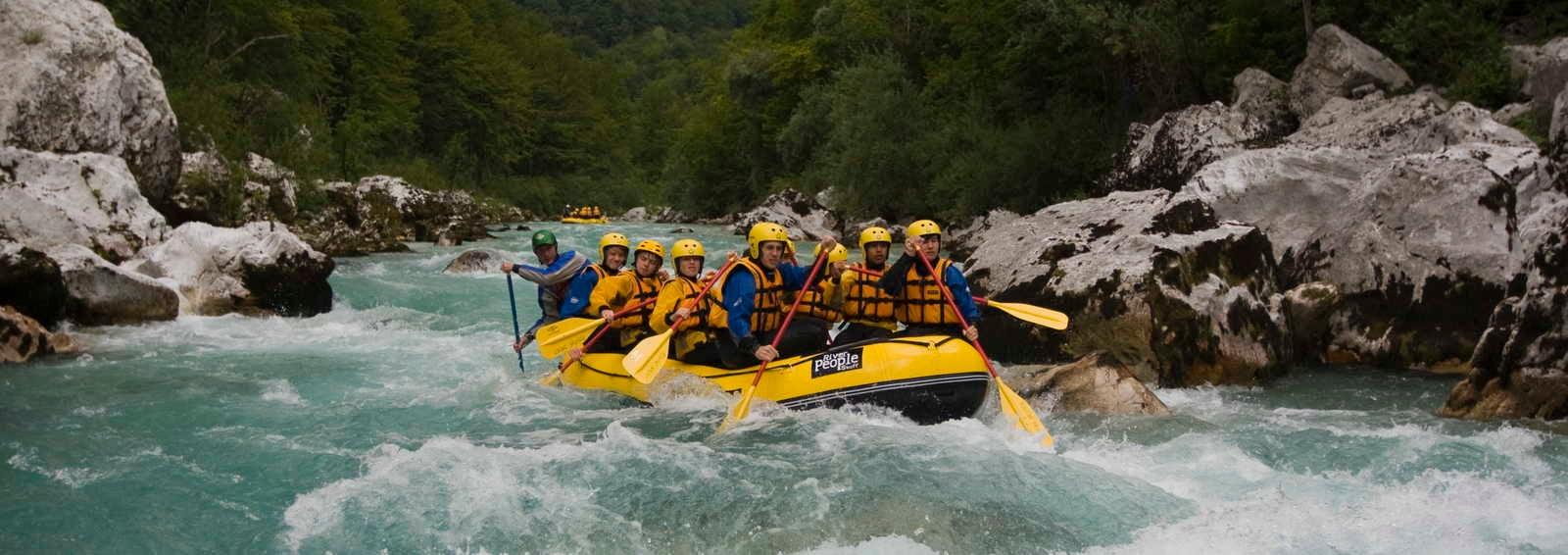 white water rafting group