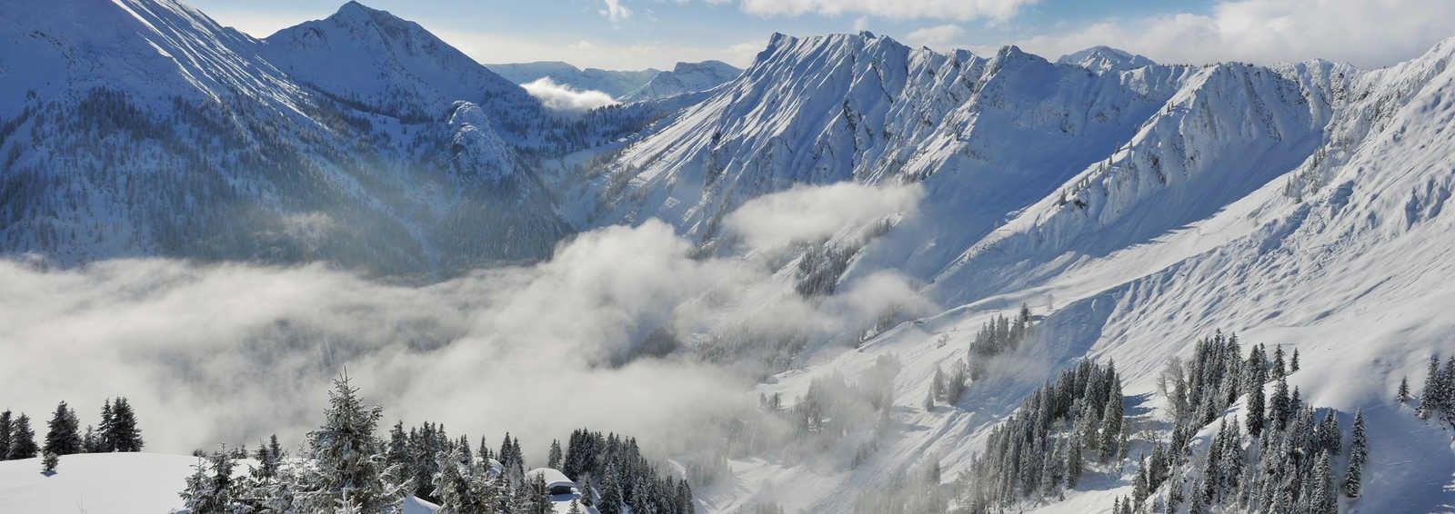 Glorious sunshine over the Austrian Tyrol
