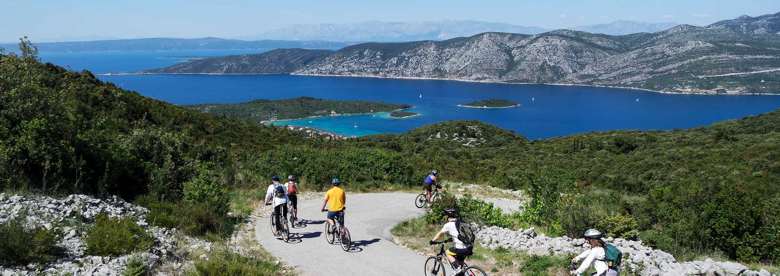 Cycling in Korcula, Croatia