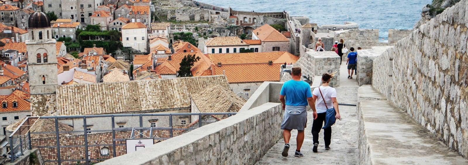 Walking the walls in Dubrovnik