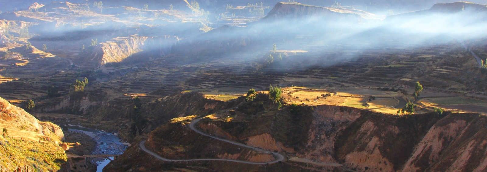 Colca Canyon Inca terracing