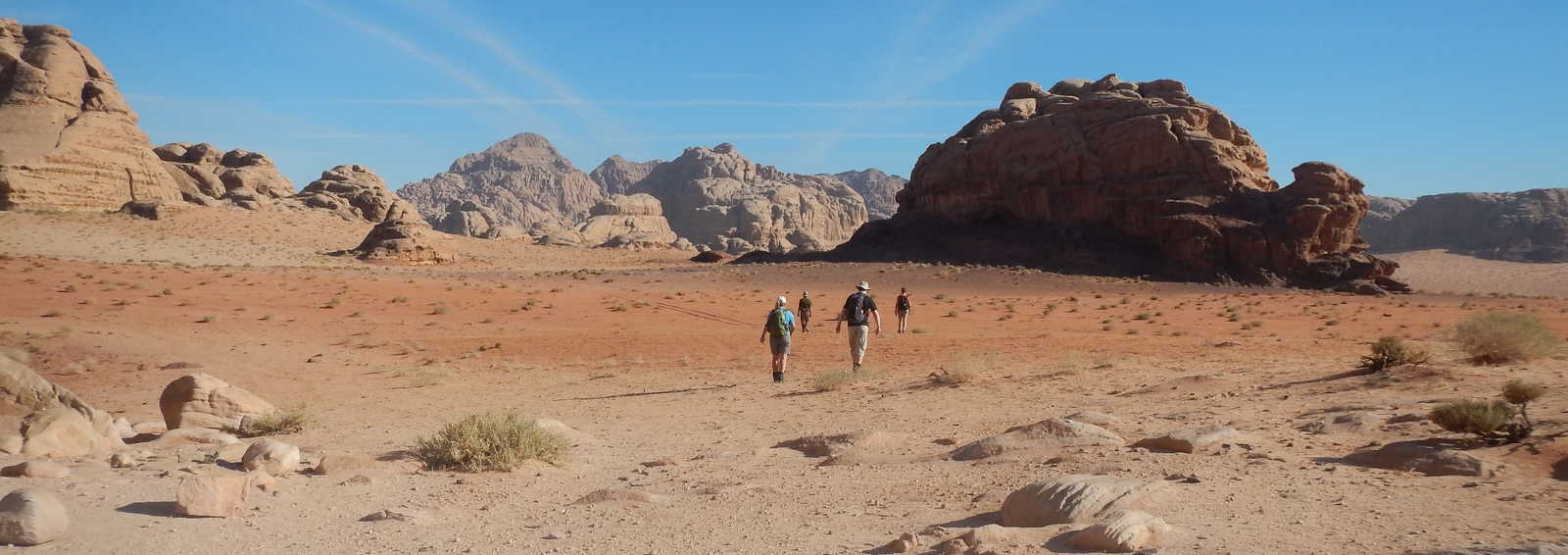 Trekking through the Wadi Rum