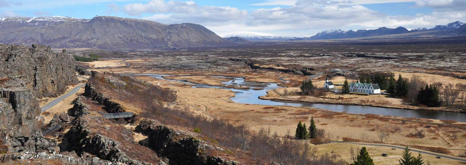 The rift valley at Thingvellir N.P, Rift Vally