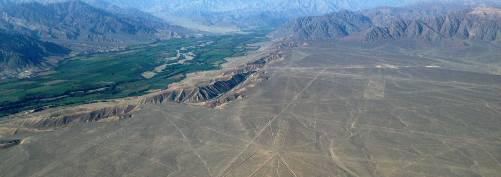 A view of the Nazca Lines, Peru