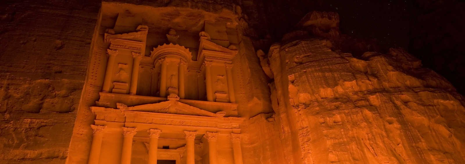 Petra at night
