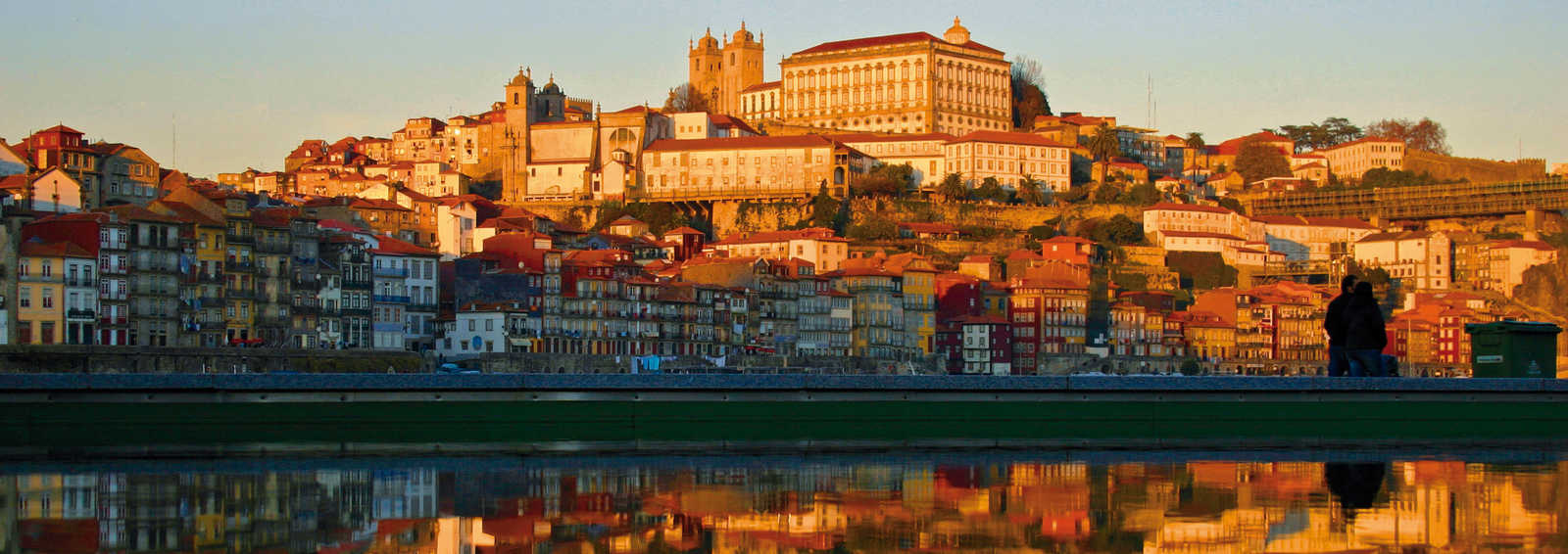 The cityscape of Porto at sunset, Portugal